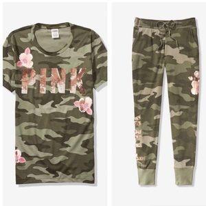 PINK Victoria's Secret Tops - NWT Victoria's Secret PINK Set - Camo Bling Outfit